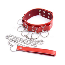 Buy BDSM PU Leather Slave Collars Fetish sex toys Couples Erotic Adult Games Leash Neck Collar Bondage Restraints Sex Products