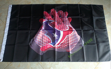 Houston Texans football team pennant 90 * 150CM US flag decorated sports gloves 100D Super Bowl NFL flag logo free shipping