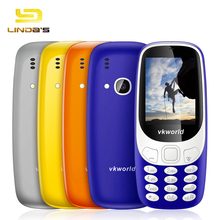 VKworld Z3310 2.4 Inch 3D Water Drop Screen Loud Speaker FM Radio Strong LED Light Flashlight Style Dual Sim Mobile Cell Phone(China)