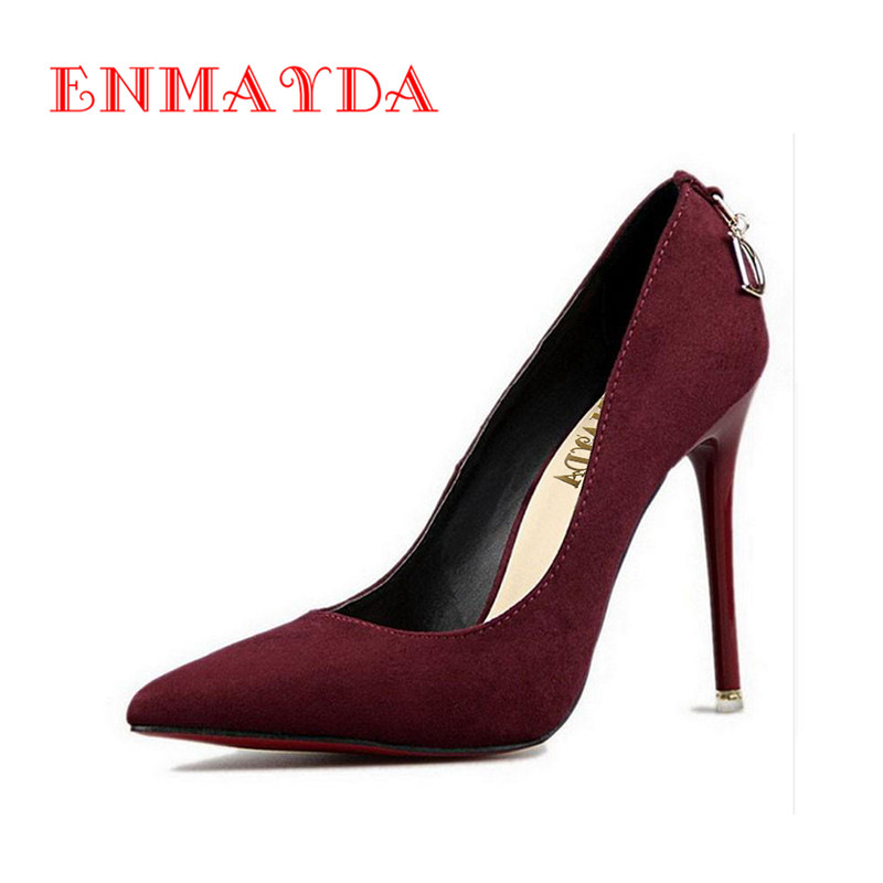 ENMAYDA Shoes Woman 5 Colors Plus Size 34-44 Fashion High Heels Women Pumps Classic White Red Beige Sexy Wedding Shoes Women<br><br>Aliexpress