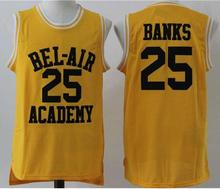 2016 New Banks Number 25 Color Yellow Good Quality Basketball Jersey(China)