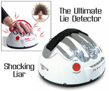 Originality Shocking Liar Detector Reloaded,Adjustable Electric Shock Lie Detector Polygraph Adult Game Truth Shocking Liar toys