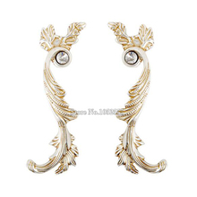 Hot 5Pair European Antique cupboard closet drawer handle furniture hardware pulls, Drawer Cabinet Door Handles and Knobs