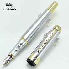 JINHAO 250 Executive Golden and Silver M Bib Fountain Pen Stationery School&Office Writing Pen