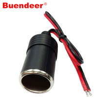 Buendeer Car Cigarette Lighter extension cable Female Socket Power Plug Connector Adapter for 12V 24V High power(China)