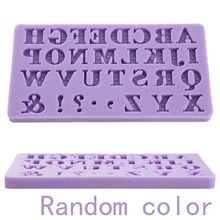 Mayitr DIY 3D Alphabet Letter Silicone Cake Fondant Mold Cake Decoration Tools Soap Chocolate Candle Moulds Random color