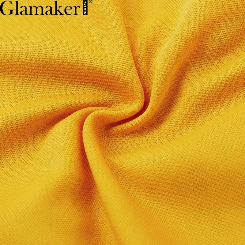 Glamaker Hollow out sexy yellow long dress Women lace ruffle button sundress Bodycon summer party dress night vestidos de festa 9