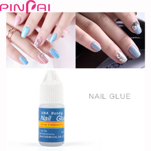 PinPai 3g Nail Glue With Brush Essential for Nail Tips Nail Glitter Rhinestones Decoration Sticking Professional Nail Adhesive(China)