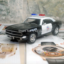 Brand New KT 1/37 Scale USA 1967 Chevrolet Camaro Z-28 Police Version Diecast Metal Pull Back Car Model Toy For Gift
