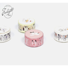 8M/Box Cute Lovely Cat Puppy Dog Masking Tape Washi Tape Decrotive Album DIY Craft(China)