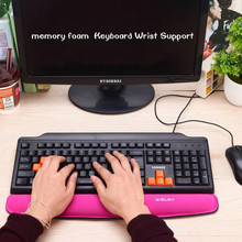 Wholesale Mechanical Keyboard Wrist Support Comfort Pad Wrist Rest Keyboard Hand Pad Keyboard Pillow for PC Keyboard
