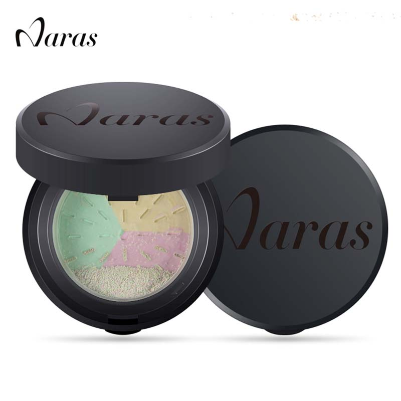 Naras Brand loose powder Makeup Bare Mineral Face Powder Skin Finish studio fix LongLasting loose powder with puff & mirror 4238(China (Mainland))