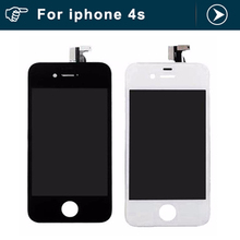 For Apple for Iphone 4S Replacement LCD touch screen digitizer assembly LCD Display with frame black or white