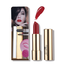 12 Colors Tint Clever Cat Lipstick Makeup Lipsticks Long-lasting Moisturizing Cream Lip Stick With Mirror For Make Up Lip(China)