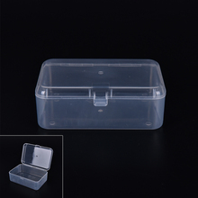 9cmx6cmx3cm Display Transparent Plastic Storage Box for Cosmetics Jewelry Collection Parts Element Small Case Home Organization