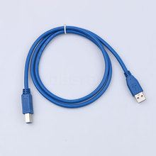 Universal USB cable 1m USB Printer Cable USB 3.0 Type A Male to B Male Scanner Extension Printer Cable Data Connector Adapter