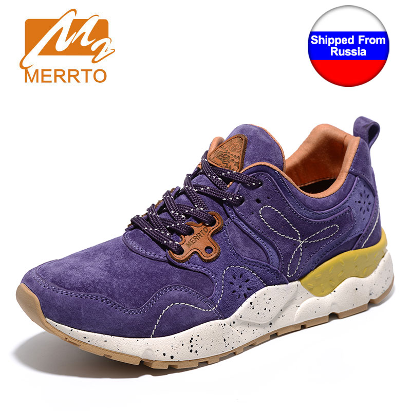Shipped From Russia MERRTO Women Running Shoes Cowhide Uppers Girsl Sport Shoes Damping Light Women Retro Running Shoes Sneakers<br>