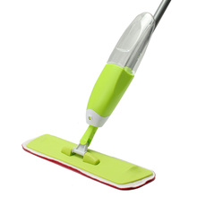 360 Degree Double Side Microfiber Water Spray Mop Cleaner Flat Floor Tiles Cleaning Tools Device Sweeper Household Accessories(China)