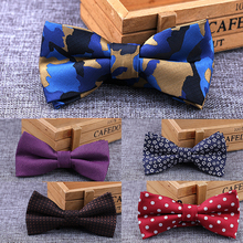 RBOCOTT Camouflage Bow Ties White And Black Plaid Bow Ties Striped & Dot Bowtie Men Business Wedding Bowknot For Party Accessory(China)
