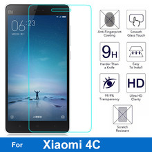 Front Tempered Glass Film For Xiaomi Mi 4C Dual Sim mi4c m4C mi-4C LCD Screen Protector  w/Stylus Pen as Gift