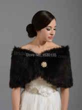 Wholesale Black Warm Faux Fur Bolero Bridal Wedding Wrap Wedding Accesorries Shawl Jacket Winter Coat  HYD732
