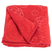 SZS Hot Red Chinese Style Pyrographic Cotton Bath Towel Wedding Gift