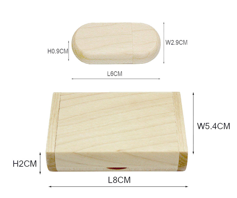 SHANDIAN Customize LOGO wooden + Box Personal LOGO pendrive 4GB 8GB 16GB 32GB usb Flash Drive U disk Memory stick wedding Gift