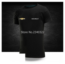 Chevrolet car short-sleeved T-shirt 4S shop summer tooling round neck summer diy T shirts