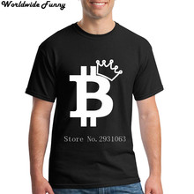 Buy Men's T Shirt Bitcoin King Design marcelo burlon world tanks 2018 plus size punk rick morty for $12.80 in AliExpress store
