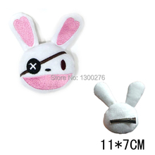 Cartoon Date A Live loveley rabbit Yoshino pendant Hair Clip Barrette Hair Decoration plush toy hairpin cosplay(China)