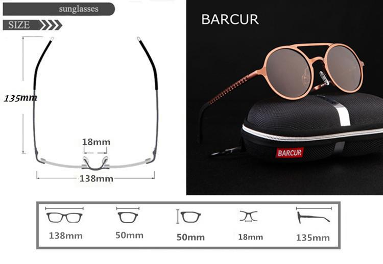 نظارات شمسية للحماية من اشعة الشمس بعدسات بلورايزد 1