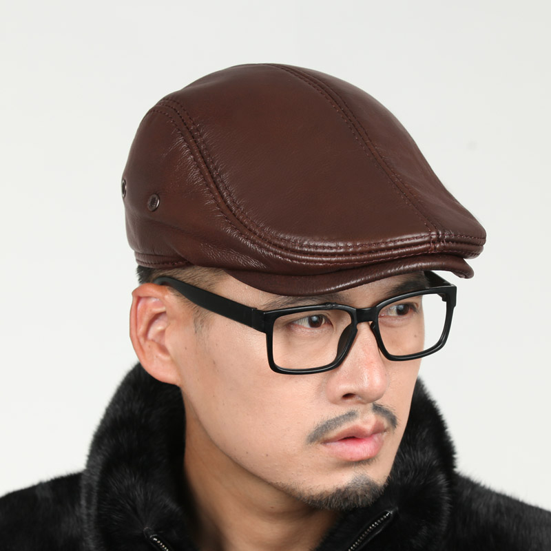 Men Genuine Leather Baseabll Caps Sport Baseball Hats Winter And Autumn Cap Outdoor Warm Men Hat Free Shipping<br><br>Aliexpress