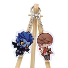Death Note Anime Keychain 4 Styles Double Side Key Chain Accessories Custom made Cute L Ryuuku  Yagami  Action Figure LTX2