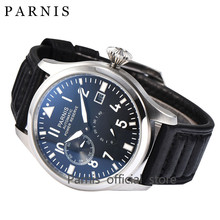 Parnis 45mm Automatic Watch Men SeaGull 2530 Automatic Movement Power Reserve Mechanical Wrist Watch Dress Genuine Leather Hot