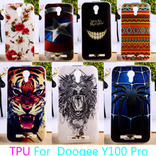 AKABEILA Soft TPU Mobile Phone Case For Doogee Valencia 2 Y100 Pro Valencia2 Y100 Pro Colorful Back Cover Protector(China)