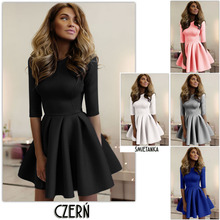 2017 summer sexy mini High-Waist Dress Half sleeve ball gown Night Club Slim Ruffled O Neck bubble Big size dress for women