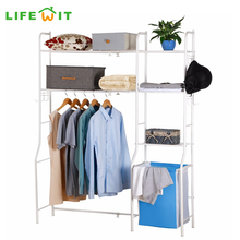 Lifewit Expandable Over Toilet Storage with 3 Movable Hooks and Laundry Basket Space Saver for Bathroom and Laundry(China)