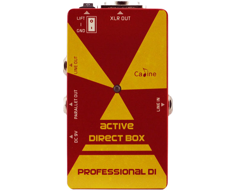 Caline CP-23 Active Direct Box Guitar Effect Pedals Professional DI BOX Effect Pedal Aluminum Alloy Housing Guitar Pedal <br>