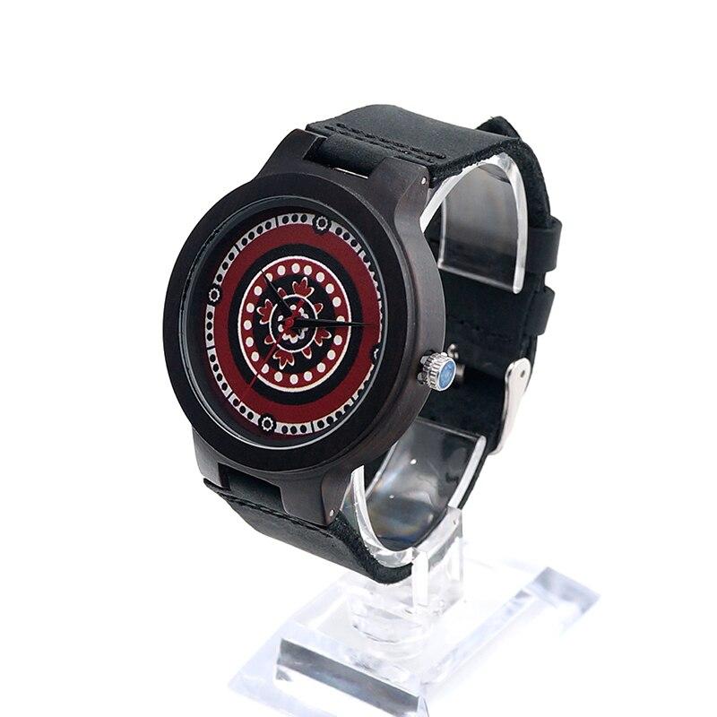 BOBO BIRD Mens Wooden Wristwatch Black Wood Case Bohemian Style Dial Leather Quartz Watchorologio da uomo<br><br>Aliexpress