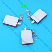 E74   3pcs New Stainless Steel Permanent Fire Metal Match Lighter With key ring