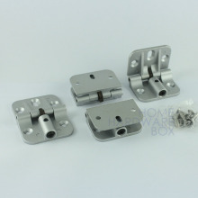 4 pcs of bi-fold hinge flip hinges table extension flush mount self lock grey