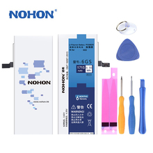 Original NOHON High Quality Phone Battery For iPhone 6s Real Capacity 1715mAh Replacement Bateria With Retail Package Tools Gift