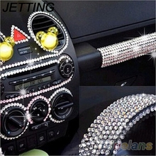 JETTING 260pcs/set 6mm Car DIY Decal Decor Stickers Dot Say It In Crystals Rhinestones Pink Silver Styling Accessories Beauty
