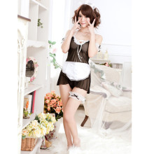 Buy Sexy lingerie Women Costume Lovely Female Maid Classical Lace Sexy Miniskirt lolita maid Sexy Costume Sex Products Women