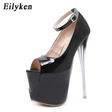 Buy Eilyken Sexy Buckle Pumps Wedding Women Fetish Shoes Concise Woman Pumps High Heel Stripper Club Women Pumps 19 CM