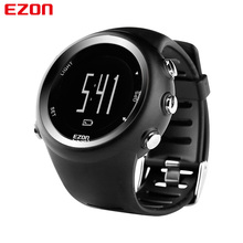 EZON Luxury Brand Alarm Mens Sport Military Watch GPS Timing Running LED Digital Quartz Wristwatches Relogio Masculino Watches(China)