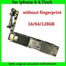 16GB 64GB 128GB Original Motherboard For IPhone 6 Logic Board Unlocked Without Touch ID 100% Good Working main board for iphone6