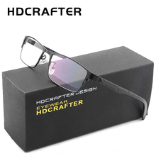 HDCRAFTER Men's Metal Eyewear Frames Unisex High Quality Men protective computer glasses women reading glasses for computer(China)