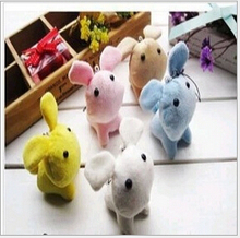 Kawaii 3pcs 8cm cute  Mini Rabbit Plush Stuffed TOY DOLL Phone Charm Strap & BAG Pendant Lanyard DOLL Wedding Bouquet