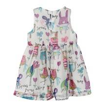 Newest Summer Girls Dress Clothes European Fashion Style Girls Chiffon Dresses Hand Painted Doll Collar Kids Princess Dress